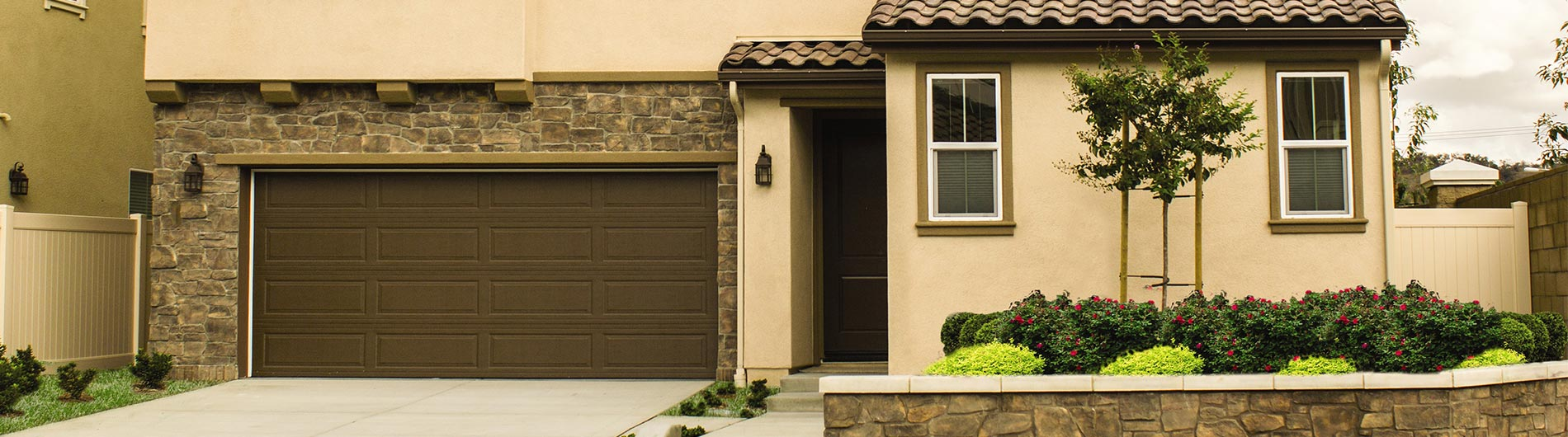 Steel Garage Door Ranch Brown Precision Doors Of San