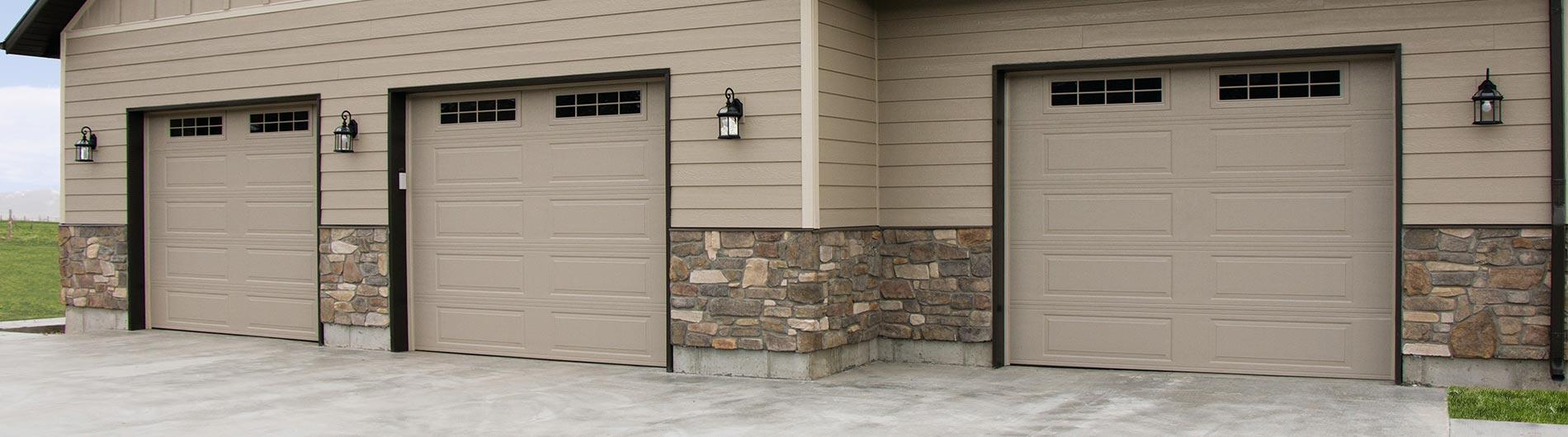 Steel Garage Door Ranch Desert Tan StockbridgeII & Steel Garage Door Ranch Desert Tan StockbridgeII - Precision Doors ...